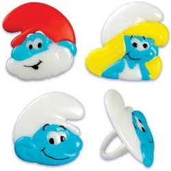 The Smurfs Cupcake Rings