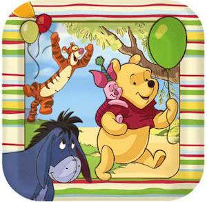 Winnie the Pooh paper party plates