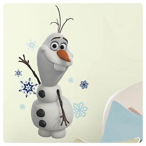 Frozen Wall Decal of Olaf the snowman