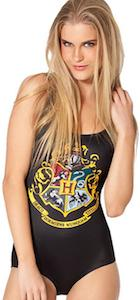 Harry Potter Hogwarts Crest One Piece Swimsuit