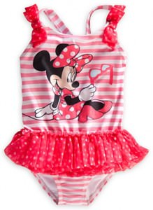 Minnie Mouse Striped Swimsuit