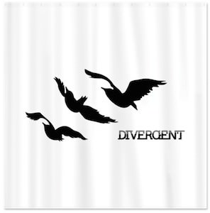 Divergent Raven Tattoo Shower Curtain