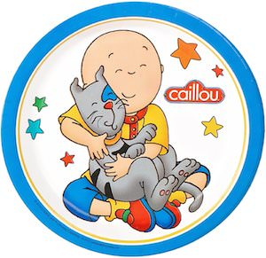 Caillou Party Plates