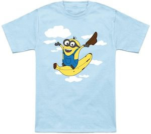Despicable Me Minion Flying Banana T-Shirt