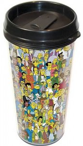 Simpsons Springfield Plastic Travel Mug (2)