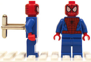 Spider-Man LEGO Cufflinks