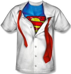 Superman Costume undress t-shirt