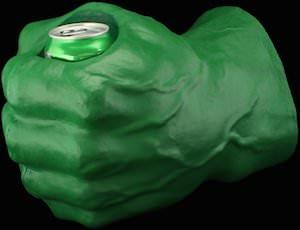 The Hulk Uberfist Can Koozie