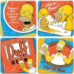 The Simpsons Duff Beer Coaster Set