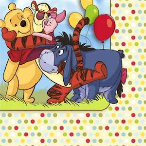 Winnie the Pooh and friends paper napkins