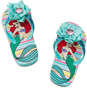 The Little Mermaid flip flops