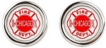 Chicago Fire logo cufflinks