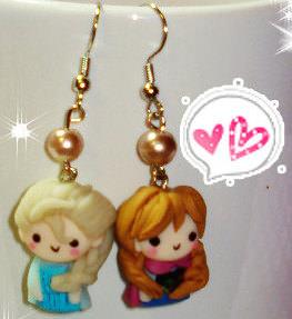 Frozen Anna And Elsa Earrings