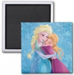 Frozen magnet with sisters Anna and Elsa