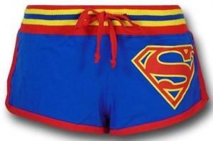 Superman Striped Short Shorts