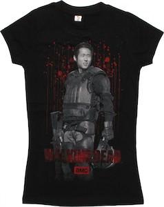 The Walking Dead Glenn In Riot Gear T-Shirt