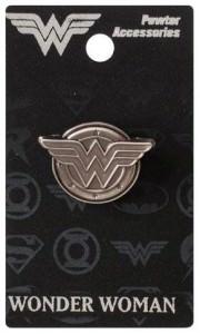 Wonder Woman Logo Pewter Pin