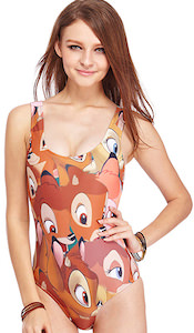 Bambi one piece bathing suit or adults