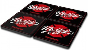 Chicago Fire Molly's pub coasters