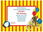 Curious George birthday invitations