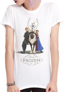 Frozen Anna, Sven, Olaf t-shirt