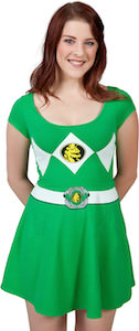 Green Power Ranger Skater Dress