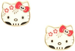 Hello Kitty Day Of The Death Stud Earrings