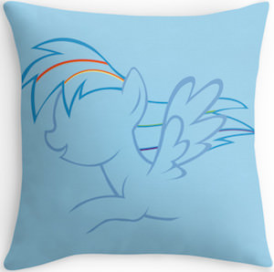 My Little Pony Rainbow Dash throw pillow