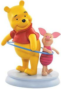 Winnie the Pooh And Piglet Hula Hoop Figurine