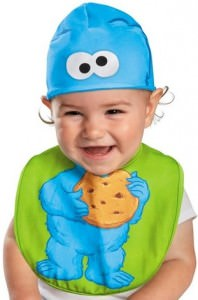 Sesame Street Cookie Monster Bib and Hat