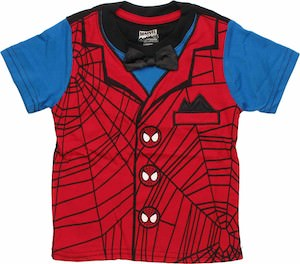 Spider-Man kids t-shirt with bow tie