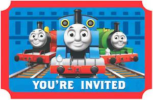 Thomas Birthday Invitations With Of Course Trains