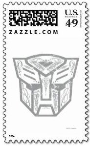 Transformers Autobot Postage Stamp