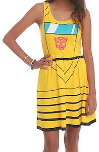Transformers Bumblebee Costume Dress
