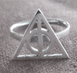 Harry Potter Silver Deathly Hallows Ring