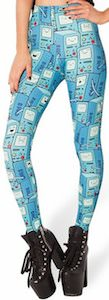 BMO leggings from Adventure Time