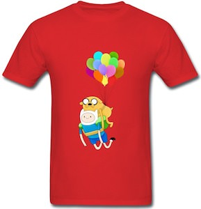 Adventure Time Jake And Finn Balloon T-Shirt