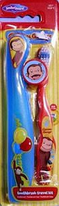 Curious George Toothbrush travel kit