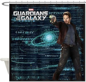 Marvel Guardians of the Galaxy Star-Lord Shower Curtain