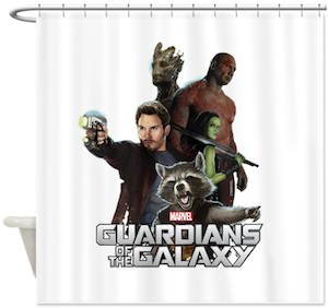 Guardians of the Galaxy Group Shower Curtain