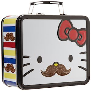 Hello Kitty moustache lunch box