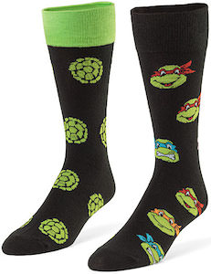 2 Pair Of Teenage Mutant Ninja Turtles Socks
