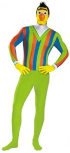 Bert Adult Bodysuit Costume