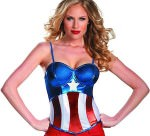 Captain America costume Bustier Top
