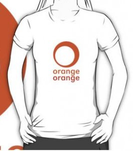 Chuk Orange Orange Logo T-Shirt