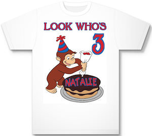 Curious George Personalized Birthday T-Shirt