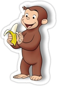 Curious George Sticker