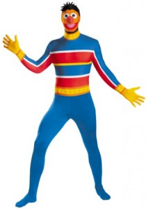 Ernie Adult Bodysuit Costume