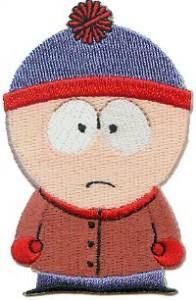 South Park Stan Iron On Patch