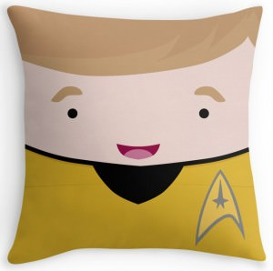 Star Trek Captain James T Kirk Throw Pillow